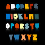 Colorful Funny Alphabet Set Stock Images