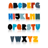 Colorful Funny Alphabet Set Royalty Free Stock Photos