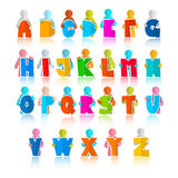 Colorful Funny Alphabet Set Stock Image