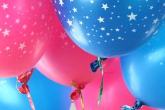Colorful funny balloons. Royalty Free Stock Image