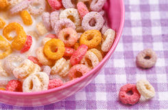 Colorful Funny Breakfast Cereals Royalty Free Stock Images