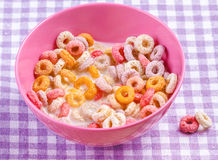 Colorful funny breakfast cereals Stock Image
