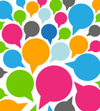 Colorful funny speech bubbles. Abstract background Stock Photography