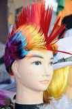 Colorful funny wigs Stock Photos