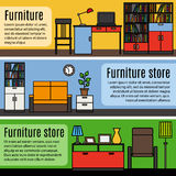 Colorful furniture banners Stock Photography