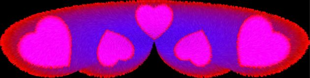 Colorful furry and lighted honeymoon pillow computer generated illustration image design. Useful for many purpose like , home furnishing , printing , screen royalty free illustration