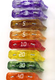 Colorful Fuses Line Up stock photography