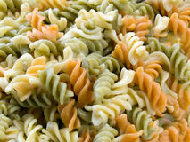 Colorful fusilli Stock Photo