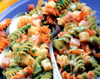 Colorful fusilli. Royalty Free Stock Photos