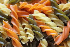 Colorful Fusilli Pasta. Background. Close-up Royalty Free Stock Images