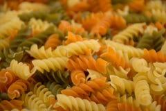 Colorful fusilli pasta Stock Image