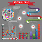 Colorful futuristic infographics  vector Royalty Free Stock Photo