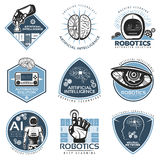 Colorful Futuristic Innovations Labels Collection Stock Image