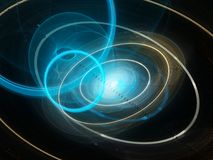 Colorful futuristic space technology abstract Stock Photography