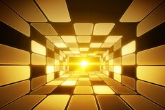 Futuristic tunnel background Royalty Free Stock Image