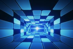 Futuristic tunnel background Stock Photos