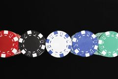 Colorful Gambling Chips Royalty Free Stock Photo