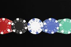 Colorful Gambling Chips Royalty Free Stock Photo