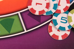 Colorful gambling chips Stock Photo