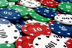 Colorful Gambling Counters Stock Photography