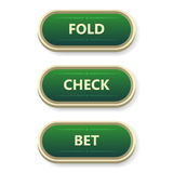 Colorful  gambling and poker buttons with text. Stock Images