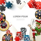 Colorful Gambling Template royalty free illustration