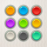 Colorful Game Buttons Stock Photography