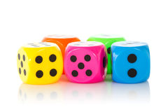 Colorful game dices Royalty Free Stock Photo
