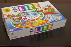Colorful Game of Life Box stock photo