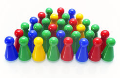 Colorful game pieces Stock Image