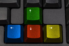 Colorful gaming keyboard keys Royalty Free Stock Photos
