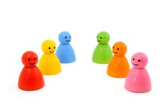 Colorful gaming pieces smiling Stock Photography