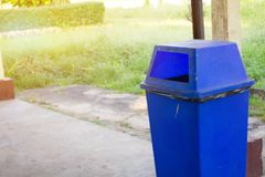 Blue trash stock photos