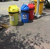 Colorful garbage bin of separate trash Royalty Free Stock Images