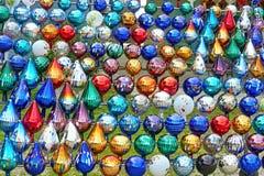 Colorful garden balls Royalty Free Stock Photo
