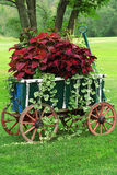 Colorful Garden Cart Royalty Free Stock Images