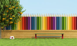 Colorful garden for children Royalty Free Stock Images