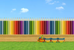 Colorful garden for children Royalty Free Stock Image