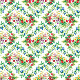 Colorful garden flowers Seamless pattern Royalty Free Stock Photos
