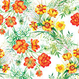 Colorful garden flowers Seamless pattern Royalty Free Stock Image