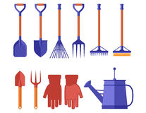 Colorful garden tools for gardening landscaping Stock Image