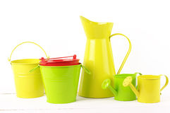 Colorful gardening set Royalty Free Stock Photography