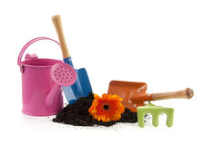 Colorful gardening tools Royalty Free Stock Photos