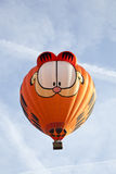 Colorful Garfield balloon taking off Stock Images