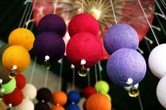 Colorful garland of ball stock photo