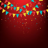 Colorful Garland with Buntings Royalty Free Stock Images