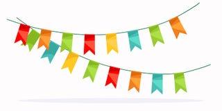 Colorful garland celebration detail. Stock Image
