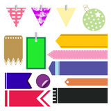 Colorful of garland and cute flags vector Stock Photos