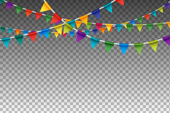Colorful  Garland With Party Flags. Vector Illustration Royalty Free Stock Images