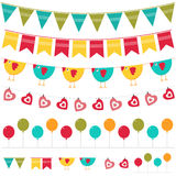 Colorful garland set Stock Image